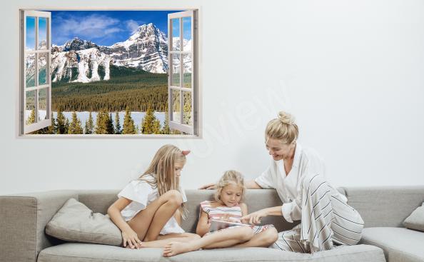 Panoramic view window sticker