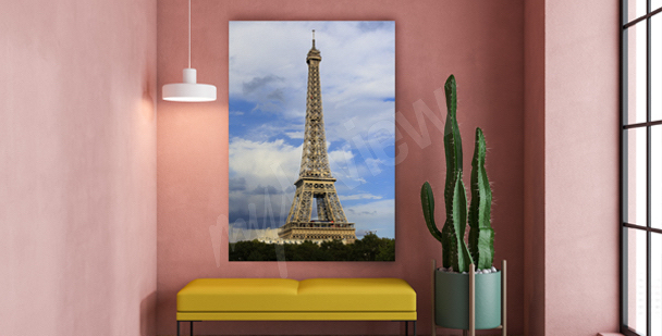 Parisian monuments canvas print