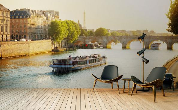 Paris landscape wall mural