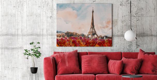Paris living room canvas print