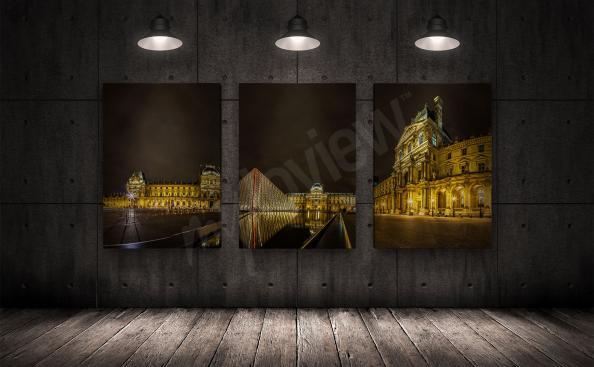 Paris print Louvre