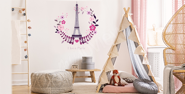 Paris sticker for a child's room