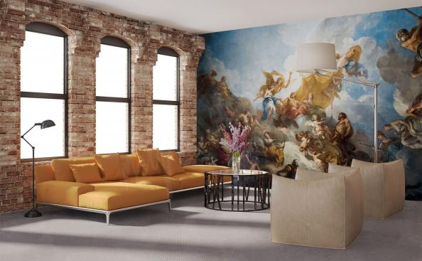 Paris wall mural for living room