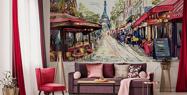 Parisian alley mural