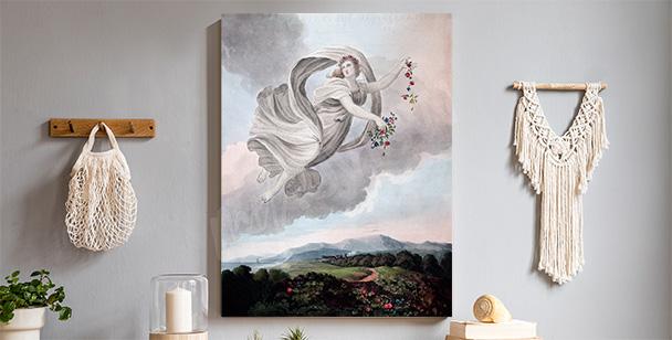 Pastel angel canvas print