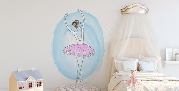 Pastel ballerina sticker