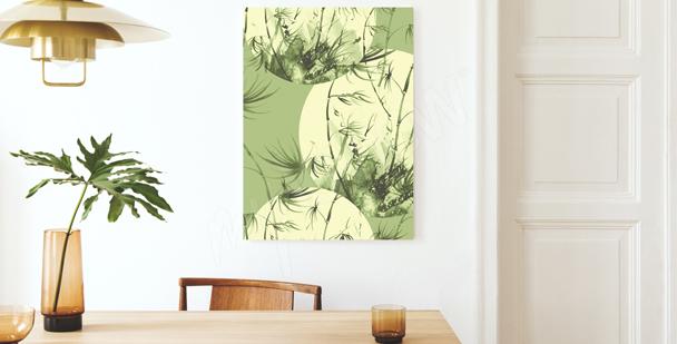 Pastel bamboo canvas print