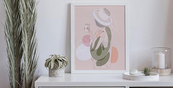 Pastel bedroom poster