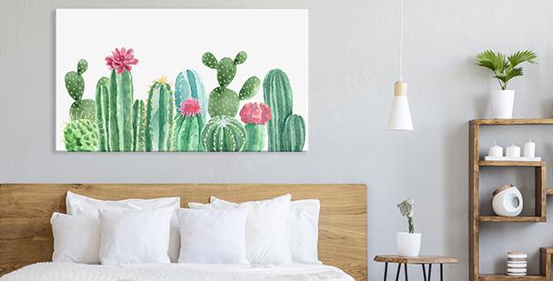 Pastel floral style canvas print