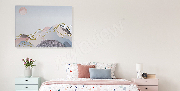 Pastel landscape canvas print