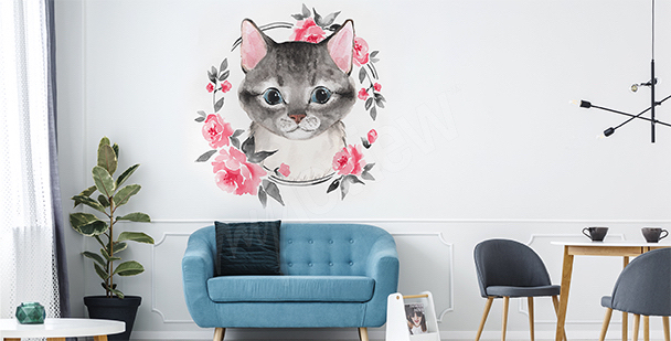 Pastel living room sticker