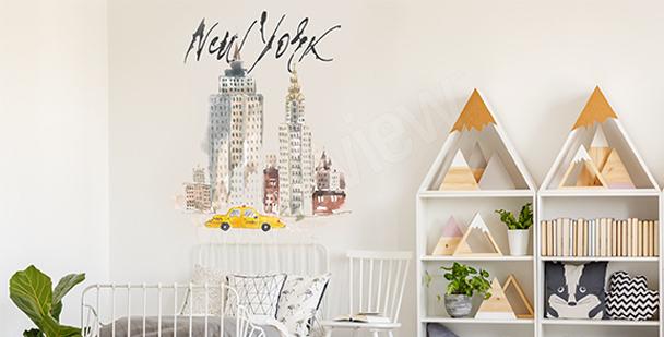 Pastel New York sticker