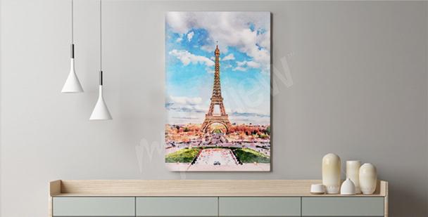 Pastel Paris canvas print