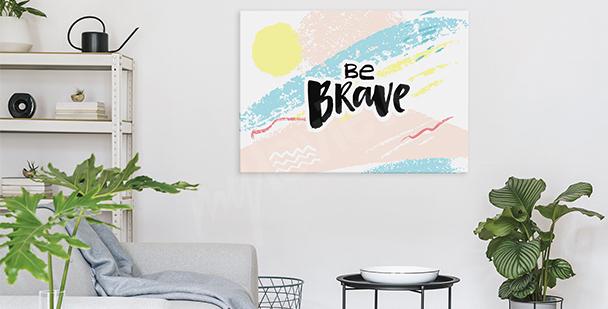 Pastel shades canvas print