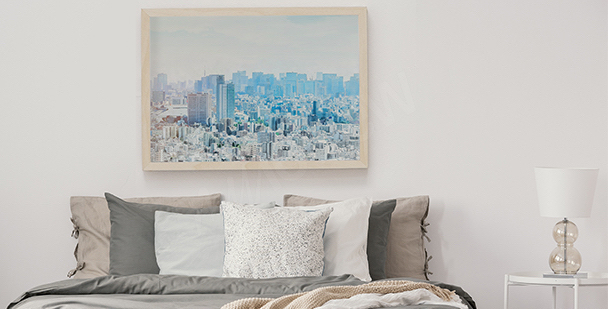 Pastel skyline poster