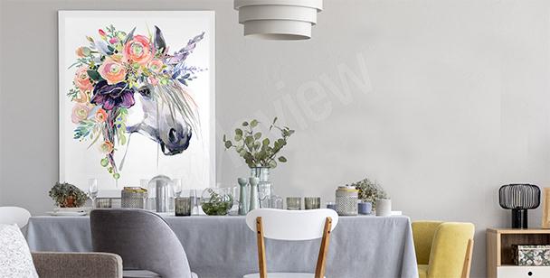 Pastel unicorn poster