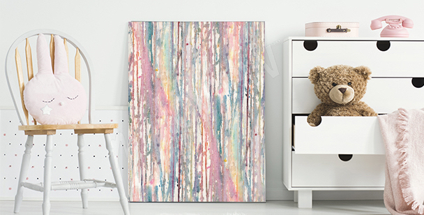 Futuristic abstract canvas print
