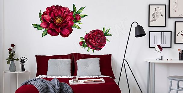 Peony bedroom sticker