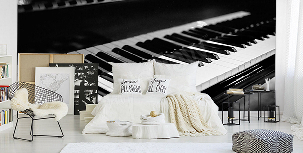 Piano keys wall mural