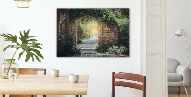 Picturesque park canvas print