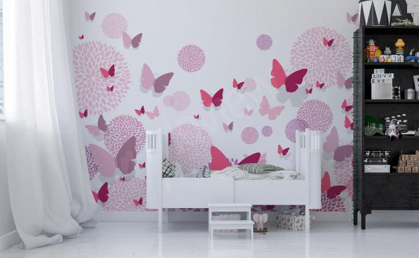 Pink butterflies sticker