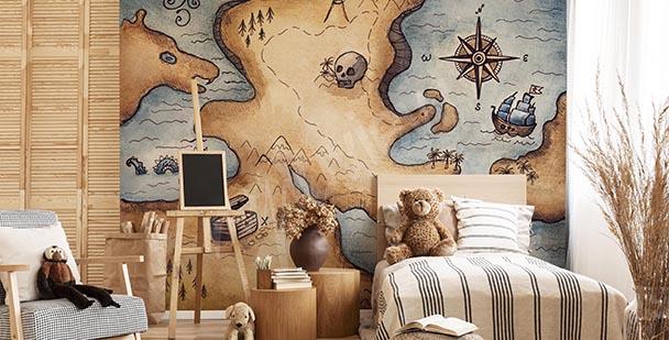 Pirate motif mural