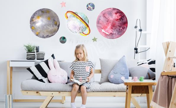 Planet sticker - pastels