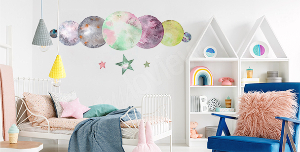 Planetary sticker for a child's room