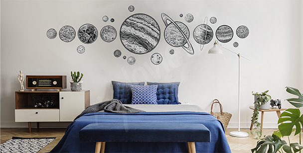 Planets sticker for the bedroom