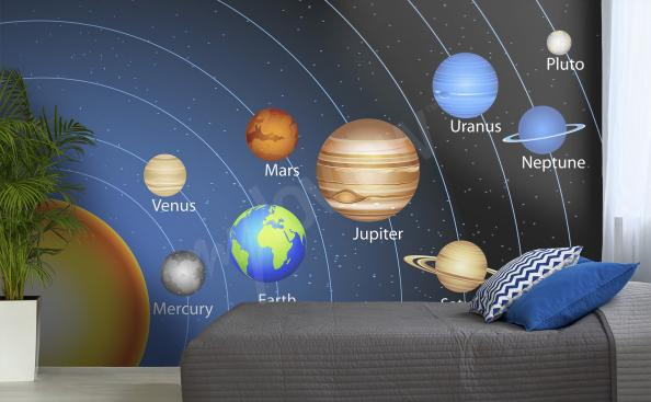planets space mural
