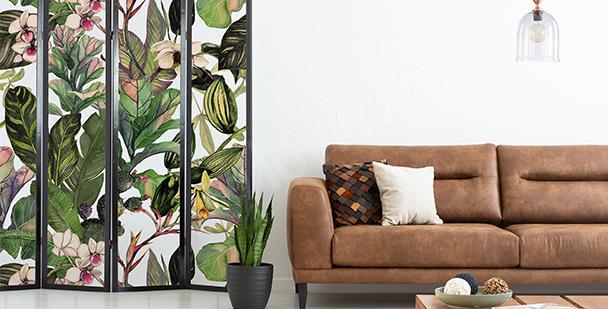 Plant living room sticker