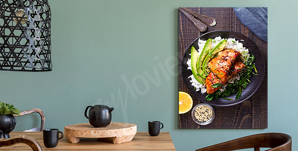 Plate of food canvas print