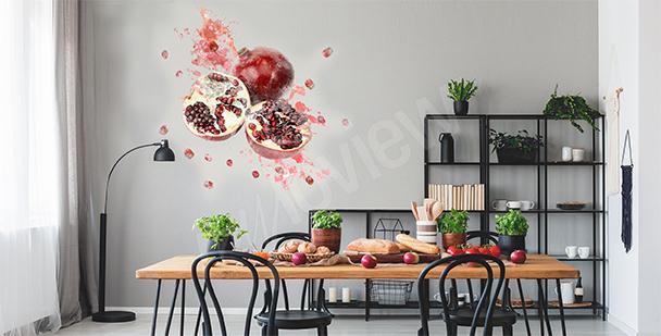 Pomegranate fruit sticker