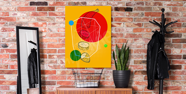 Pop art fruit canvas print