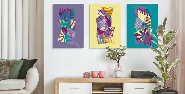 Pop art geometric canvas print