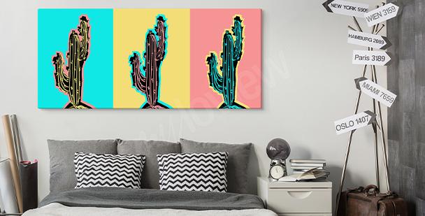 Pop art living room canvas print