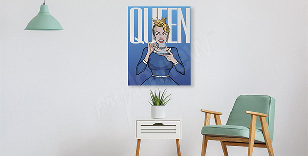 Pop-art style canvas print