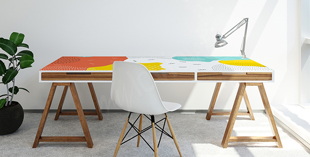 Pop-art-style desk sticker