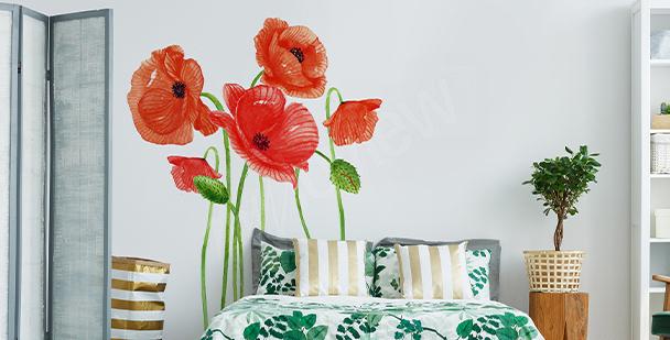 Poppies bedroom sticker