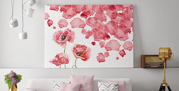 Poppy petals canvas print