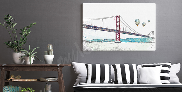 Portuguese city canvas print