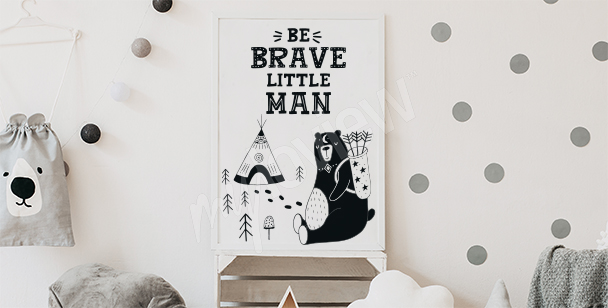 Poster for a boy's room with a quote