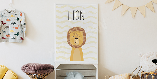 Poster for a boy's room – lion