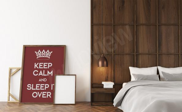 Poster for the bedroom with inscriptions
