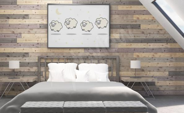 Poster with sheep for the bedroom