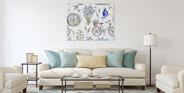 Provençal style canvas print