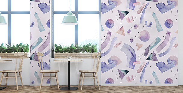 Purple abstraction mural