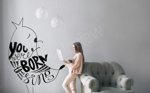 Quote living room sticker