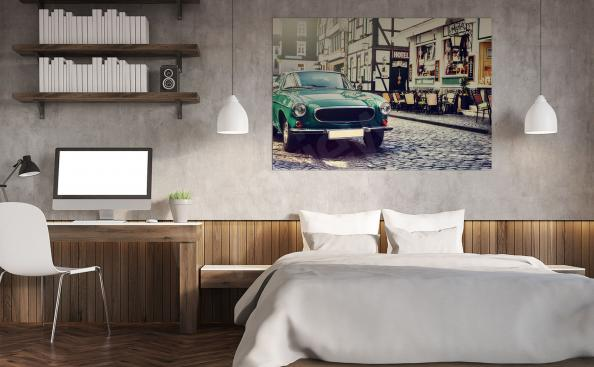 Racing car poster for the living room