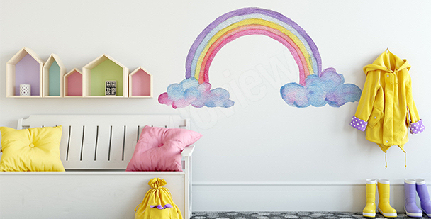 Rainbow sticker for girls